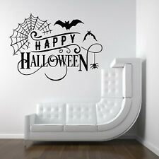 Happy Halloween Spooky Witch Vinyl Decal Stickers Shop Window Wall Decoration