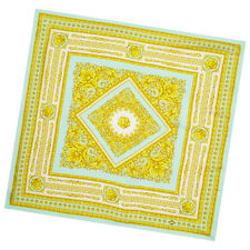 Versace Silk Square Blue Yellow Baroque Printed Scarf - Great Gift