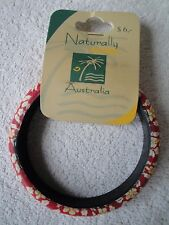 Naturally Australian Pretty Red, White and Yellow flowered design bangle