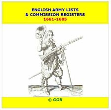 ENGLISH ARMY LISTS & COMMISSION REGISTERS 1661-1685 CD ROM