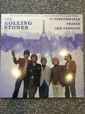 """THE ROLLING STONES """"In Performance: France & Germany"""" Ltd Edt Clear Vinyl Lp New"""