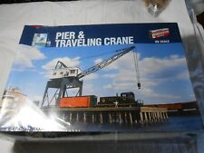 HO TRAIN WALTHERS CORNERSTONE BUILDING KIT PIER & TRAVELING CRANE NEW SEALED!