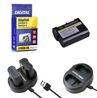 EN EL15 Battery + Charger for Nikon DSLR D7200-D7100-D7000-D810-D800-D750-D610
