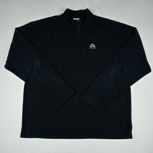 NIKE ACG Long Sleeve 1/4 Zip Thermal Shirt Black Lightweight Men's Size Medium