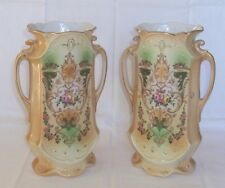 PAIR of LYNN NO.2 STAFFORDSHIRE POTTERY VASES C.1930