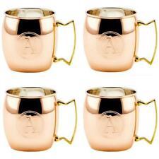 Old Dutch International OS428MMA 16 oz. Solid Copper Moscow Mule Mug Monogram A