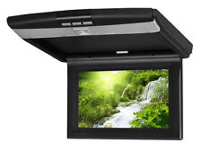 "woo-wall 10.2"" Roof Mount Slim Led Flip Down Car Monitor Wide Screen With Remote"