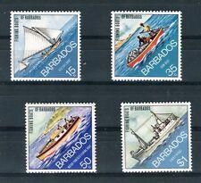 Barbados 1974 Navi da pesca Yvert 369 - 72 MNH