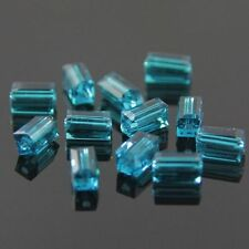 20pcs Swaro-element  4x4x8mm Cuboid Crystal beads E Peacock-blue