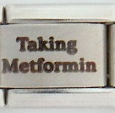 Taking Metformin Laser Medical Alert for Italian Charm Bracelets Free ID Card