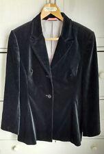 NEXT Velvet Jacket Fitted Tailored Evening Steampunk Formal Black UK 14