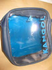 KANGOL TRAVEL ZIP BAG CLEAR AIRPORT TRANSPARANT LIQUID TOILETRIES CABIN HOILDAY
