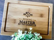 Father's Day Gifts - Personalised Engraved Serving Board (BBQ King Design)