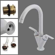 Modern Kitchen Taps Sink Sink Mixer Tap Handle Faucet White Taps Luxury UK