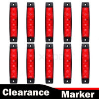 10 x 12V 12 VOLT SMD 6 LED RED SIDE MARKER LIGHT LAMP FOR TRAILER VAN BUS TRUCK