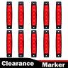 10 x 12V 12 VOLT SMD 6 LED RED SIDE MARKER LIGHT LAMP FOR TRAILER VAN BUS TRUCK