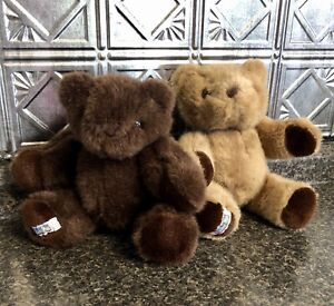2 Vintage Chad Valley Jointed Teddy Bear TWINS Stuffed Plush Chadvalley CUTE