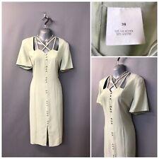 Vintage Pale Green Dress UK 10 EUR 38 Made in England
