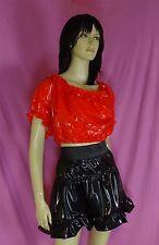 Dirndl pulli pullover blouse rosso adult neu XL pvc plastic NEU Diargh