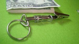 MARIJUANA Herb Roach Clip Key Chain Key Ring Music Box Wind-up Key Design