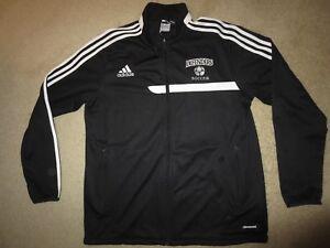 Dordt College Defenders Soccer Team adidas Black Jacket LG L