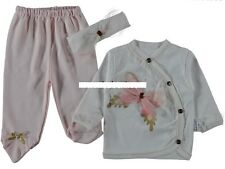 3er Set  Langarm Shirt, Strampler - Hose und Stirnband Gr. 56