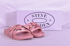 Women's Steve Madden Silky Flat Bow Detail Slide Sandals, Pink