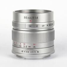 7artisans 55mm F1.4 MF Lens for Sony E Canon EF-M EOS M Fuji X M4/3 M43 Camera