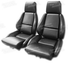 84-88 Corvette C4 MOUNTED Seat Upholstery Covers BLACK VINYL with FOAM SET NEW
