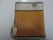CASE Heavy Equipment W36 Loader Parts Catalog C1267 Manual LOOSE PAGES DAMAGED