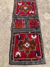 Old Saddlebag Kilim Rug 19x50 Turkish Rug Turkish Antique Bag Antique Carpet