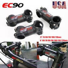 EC90 Bike Stem 6/17 Degree Carbon+Aluminum 60-120mm Length MTB Road Bicycle Part