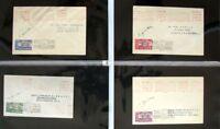 s1885) Rocket Post Großbritannien 1934 Sussex 8 Belege 5x Unterschrift Zucker