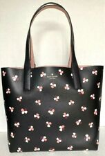 New Kate Spade New York Large Reversible Tote with Pouch Floral Pup Black multi