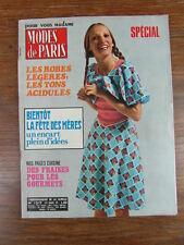 MODES DE PARIS + suppl. PATRONS ROBES No 1217 (Year Année 1972) Patterns