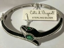 NEW Authentic Cote d'Argent snake serpent bangle sterling silver 925