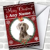 Weimaraner Dog Traditional Animal Customised Christmas Card