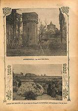 Tour Eski-Baba Tower Edirne Andrinople Adrianople Ottoman  1913 ILLUSTRATION