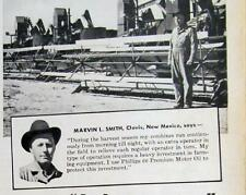 Photo Endorsed by Marvin Smith of Clovis NM Original 1950 Phillips 66 Oil Ad