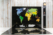 My Map World Black edition, World Scratch Map, Personal travel map, Poster.