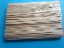 "120 x Wooden Coffee Tea Stirrers Craft Sticks 5.5"" Long In Sealed  Bag FREE POST"
