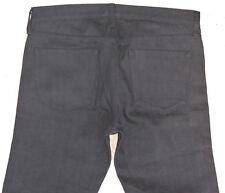 UniQLO Mens Tapered Straight Skinny Leg Jeans Black Selvedge Denim 32 X 27
