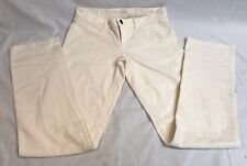 J. Crew  Matchstick Women's White buttoned Jeans Size 28R 28 x 31