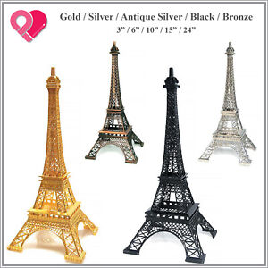 1-12 Eiffel Tower Metal Statue Sculpture Paris Wedding Cake Topper Centerpiece