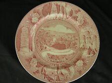 CARLSBAD CAVERNS Vintage Souvenir Plate Adams Old Staffordshire Ware