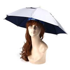 Foldable Fishing Sun Umbrella Hiking Golf Camping Headwear Cap Head Hat Outdoor