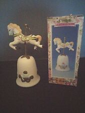 Carousel Horse Dinner Bell Handcrafted Collectible Porcelain Carousel Horse Nib