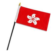 "Hong Kong 4""x6"" Flag Desk Table Stick"