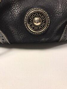 Dooney And Bourke Drawstring handbag. Nubuck Leather With Pebble Leather Combo.