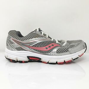 Saucony Womens Grid Cohesion S15228-15 Silver Pink Running Shoes Lace Up Size 9